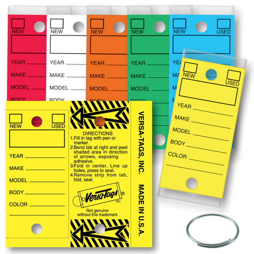Versa Tags Self Protecting Key Tags for Auto Dealers/Repair 250 to a Box