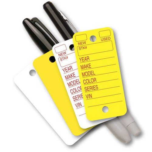Versa Tags Poly Tag 23 Mil Polyethylene Key Tags for Auto Dealers / Repair 250 to a Box