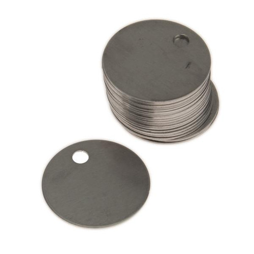 1.25 Inch 18 Gauge (.040 Inch) Bare Aluminum Tag