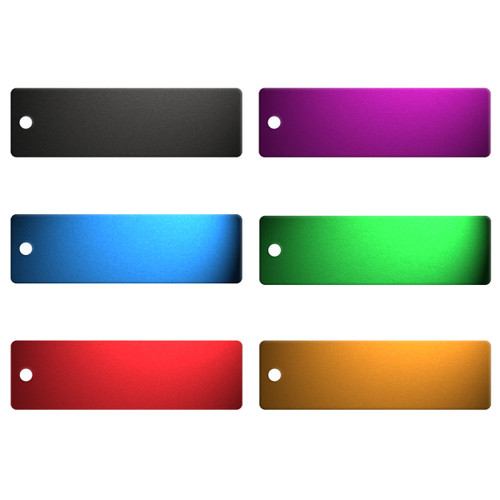 Long Rectangle Aluminum Tag - BLANK