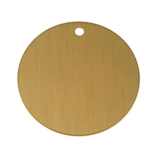 Lacquered Brass Round Tag 2 Inch - Blank