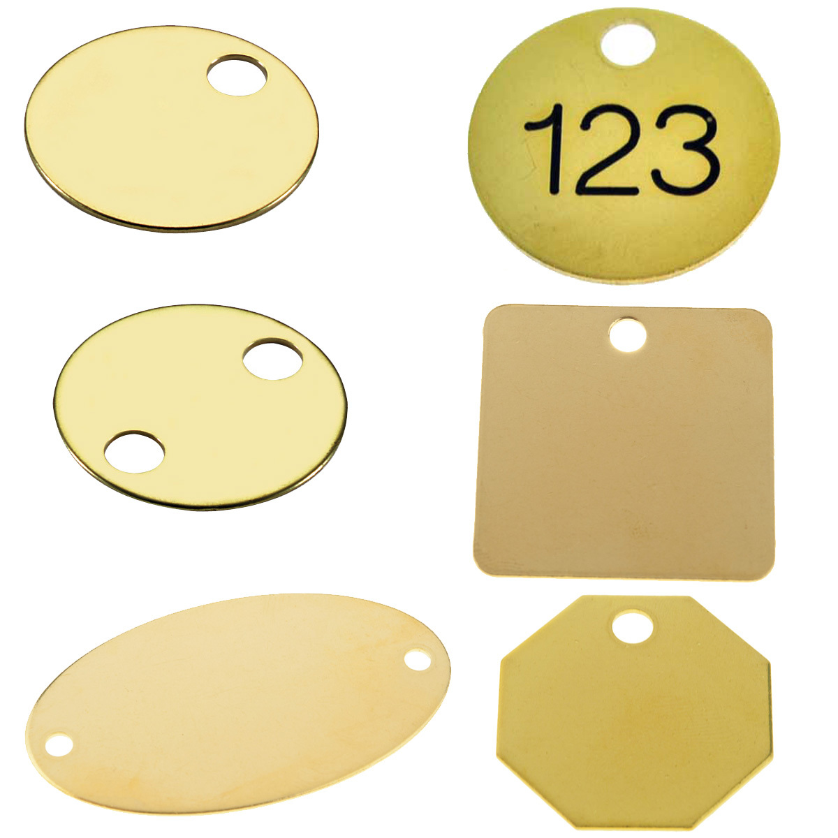 Brass Tags (Raw Brass)