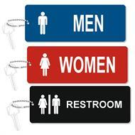 Jumbo Restroom Engraved Key Tags
