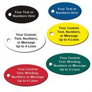 Custom Engraved Oval Shape Plastic Tags