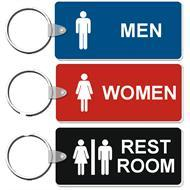 Medium Rectangle Restroom Key Tags