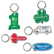 Imprinted Vinyl Key Rings and Tags