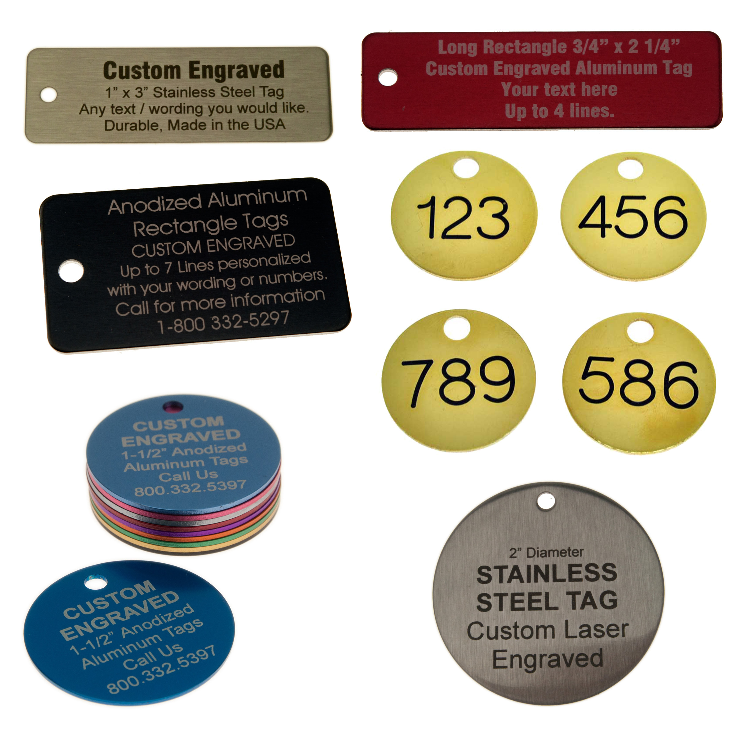 Brass, Stainless and Aluminum Tags