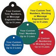 Custom Engraved Round Plastic Tags