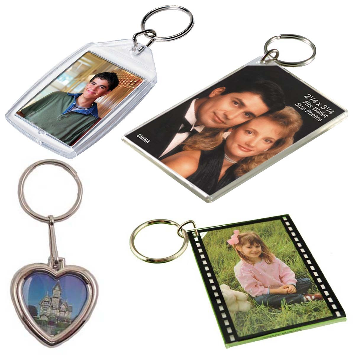 Photo Holder Key Rings