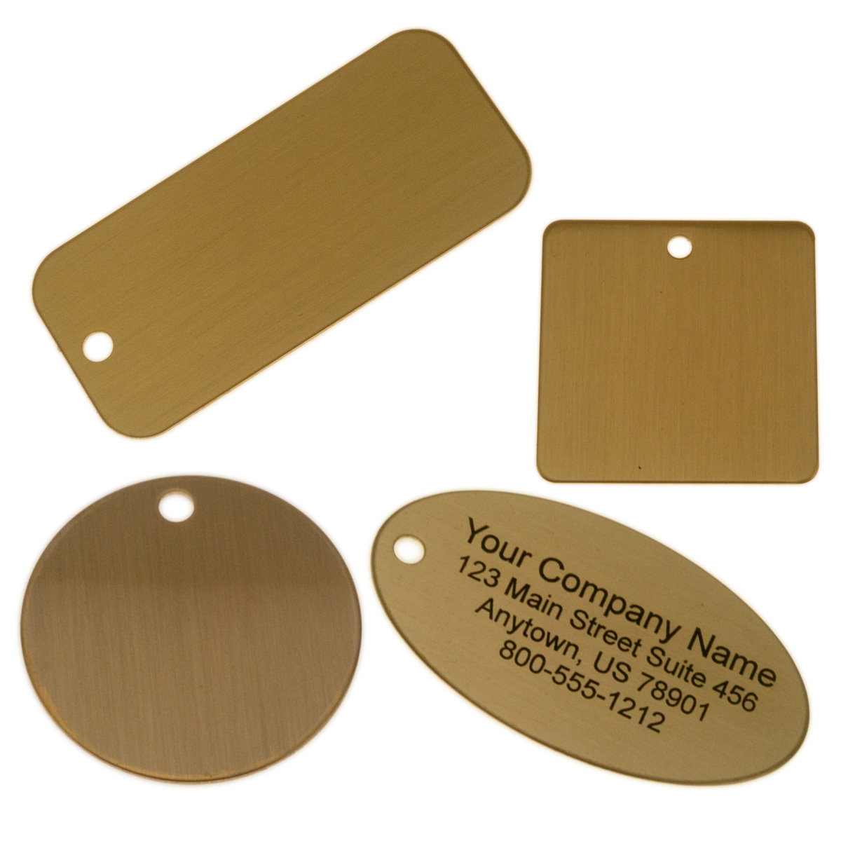 Lacquered Brass Tags
