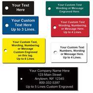 Custom Engraved Rectangle Shape Plastic Tags