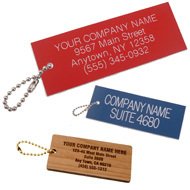 Rest Room Key Tags with Personalization