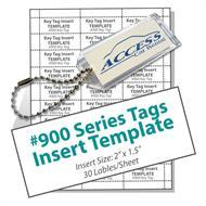 Clear Key Tags and Inserts