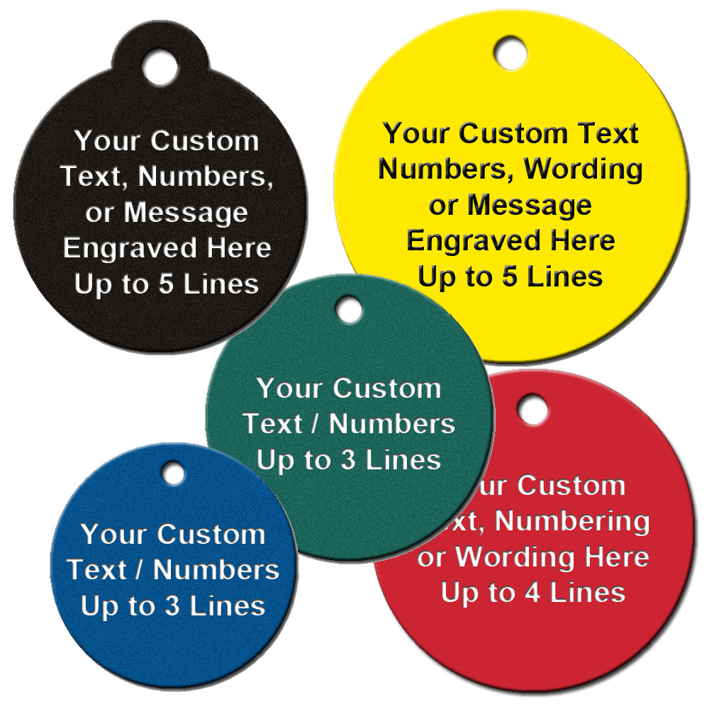 Round Shape Engraved Tags