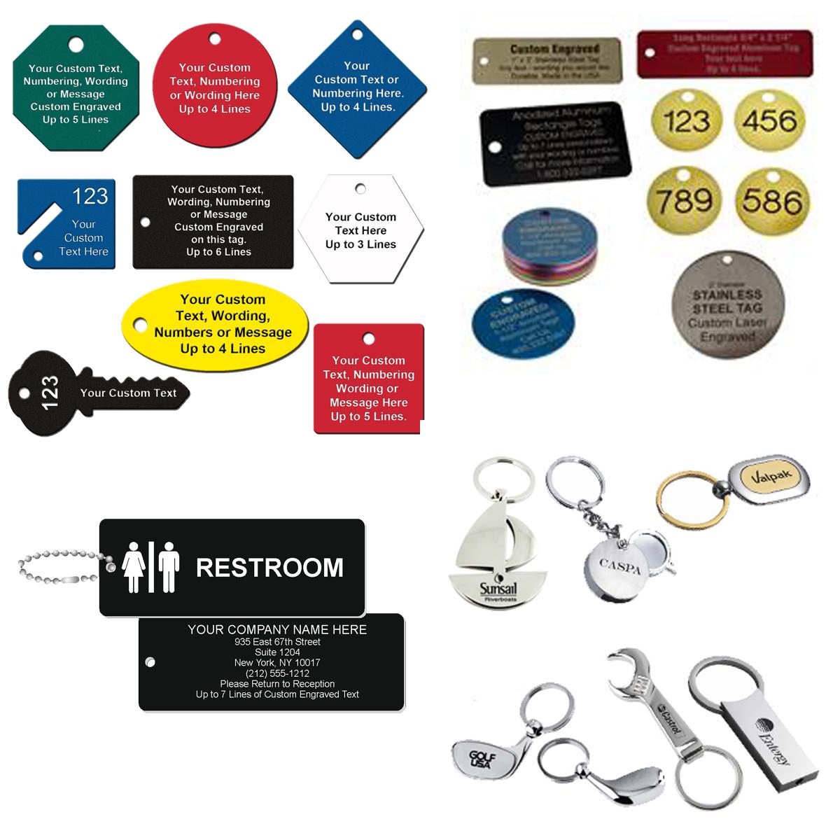 Custom Engraved Key Tags