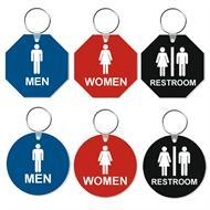 Round and Octagon Restroom Tags