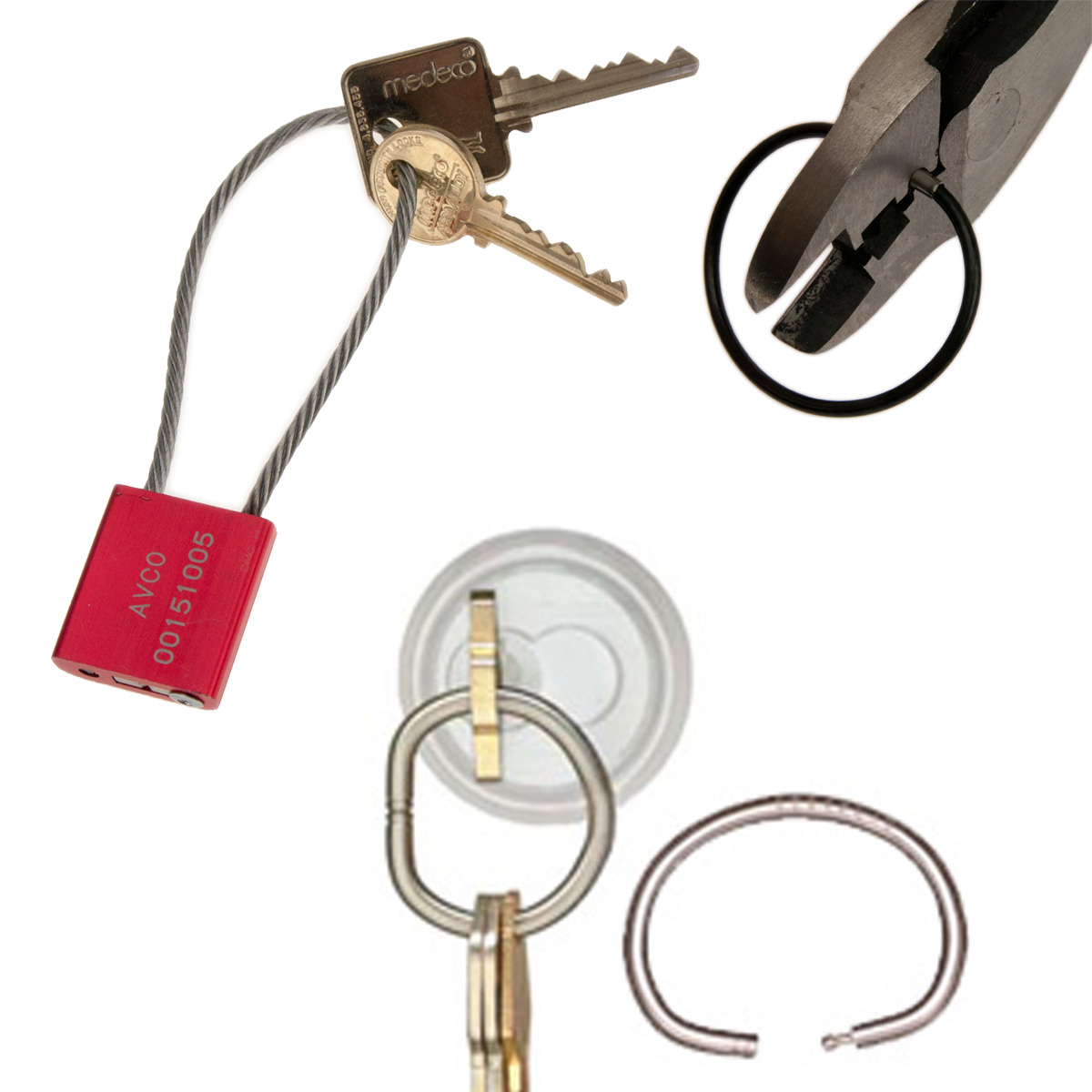 Tamper proof and tamper resistant key rings
