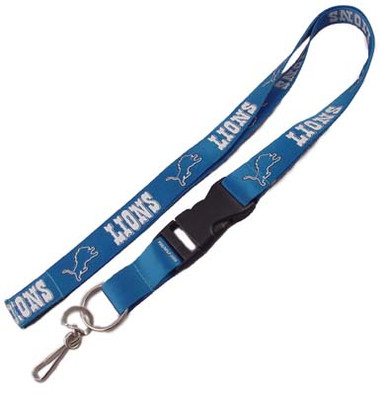 Detroit Lions Key Fob Wristlet Lanyard Dog Collars and Leashes
