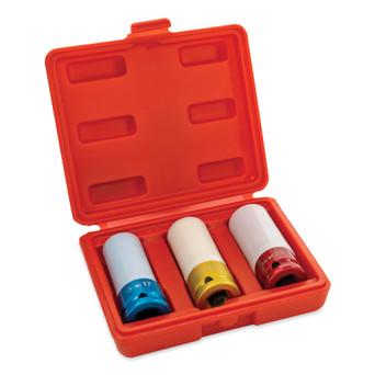 3-Piece Metric Protective Lug Nut Socket Set