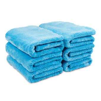 Microfiber Plush Edgeless Towels, Set of 6