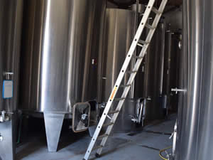 The first fermentation was in a stainless steel tank