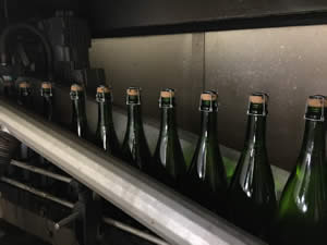The bottles are then dried properly before labelling
