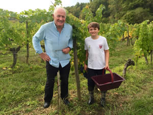 Tom with Rick Stein, October 2015