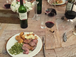 Pauillac lamb - a trial run with the director