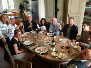 Lunch with the whole team at Bauduc, after filming