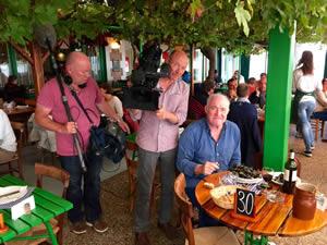 Rick playing 'Billy-no-mates' at Chez Hortense