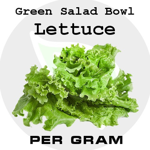 Green Salad Bowl Loose Leaf Lettuce - Per Gram - Stock Photo