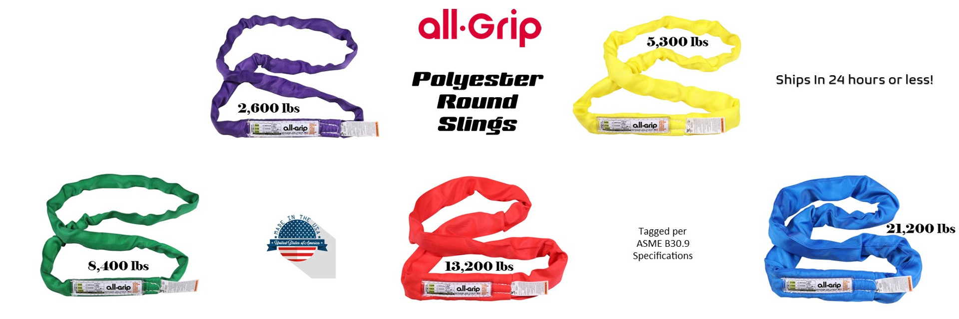 all-Grip Polyester Round Slings