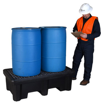Ultra Spill Pallet, Economy Model (American Made) (Drums Not Included)