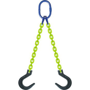 DOF High Visibility Alloy Chain Sling by all-Aloy a Western Sling Company Brand