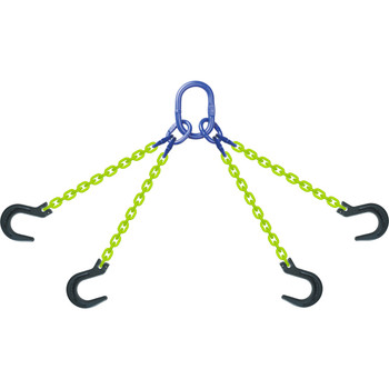 QOF High Visibility Alloy Chain Sling by all-Aloy a Western Sling Company Brand