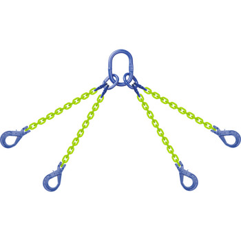 QOSL High Visibility Alloy Chain Sling by all-Aloy a Western Sling Company Brand
