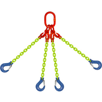 EQOS High Visibility Alloy Chain Sling by all-Aloy a Western Sling Company Brand