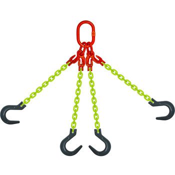 EQOF High Visibility Alloy Chain Sling by all-Aloy a Western Sling Company Brand