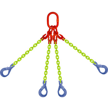 EQOSL High Visibility Alloy Chain Sling by all-Aloy a Western Sling Company Brand