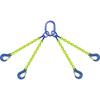 QOS High Visibility Alloy Chain Sling by all-Aloy a Western Sling Company Brand