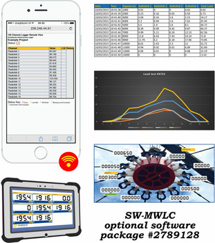 Multiple Wireless Load Cell Controller Software with Extended Range USB Base Station