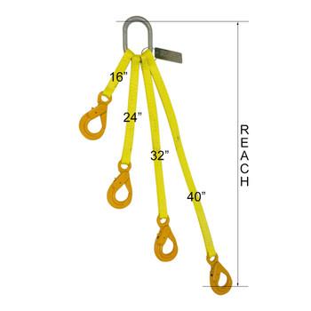 70003218 4-Way Tool Bag Web Sling by Western Sling