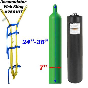 250107 Accumulator Cylinder Web Sling Dimensions