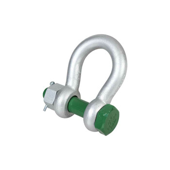 G-4163 Standard Bow Shackle with Safety Bolt Grade 6 by Van Beest Green Pin®