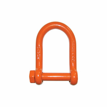 Alloy Screw Pin Orange Powder Coated Long Reach Shackle by CM
