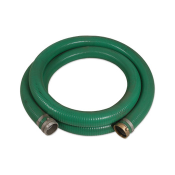 """15-0356 4"""" x 20' Hard Suction Hose w/Fittings   PVC   Green   USA w/Global Components"""