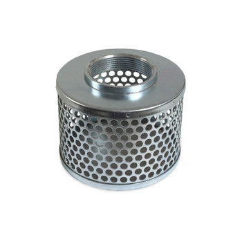 """4"""" Steel Suction Strainer with Round Openings by Mi-T-M"""