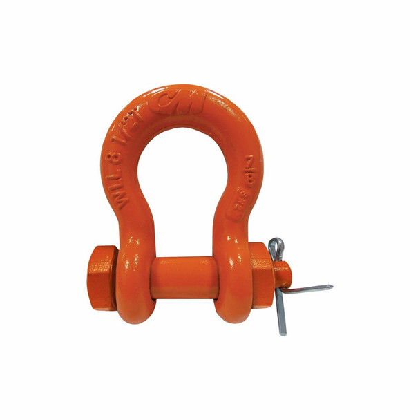 Super Strong Carbon-Type Bolt, Nut, Cotter Orange Powder Coated Anchor Shackle by CM