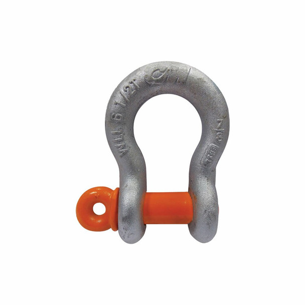 Industrial/Government-Rated Carbon Screw Pin Galvanized Anchor Shackle by CM