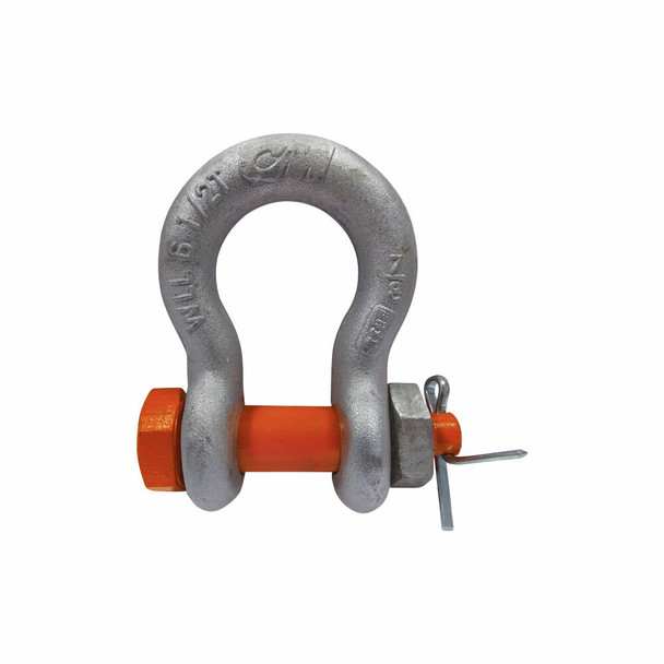 Industrial/Government-Rated Carbon Bolt, Nut & Cotter Galvanized Anchor Shackle by CM